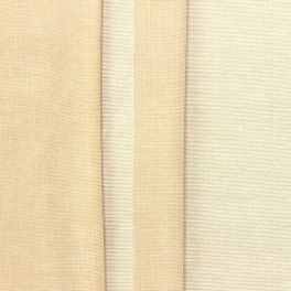 Thin jacquard fabric with Bisque pink stripes