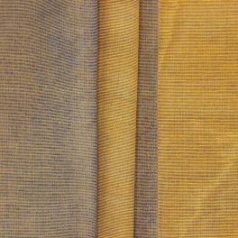 Thin jacquard fabric with ochre stripes