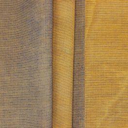 Tissu fin jacquard à rayures ocre jaune