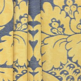 Jacquard fabric with Richelieu inspired pattern