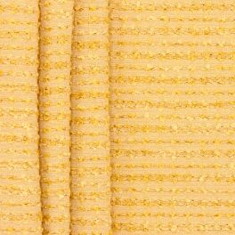 Flexible striped upholstery fabric with chenille thread