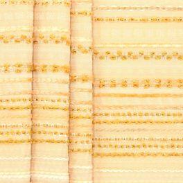 Tissu d'ameublement à rayures fil chenille