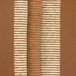 Striped upholstery fabric with chenille thread