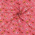 Poplin of cotton printed with wild pansy - red