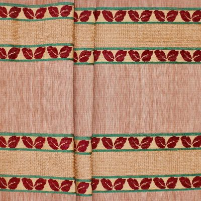 Jacquard upholstery fabric - tawny colored