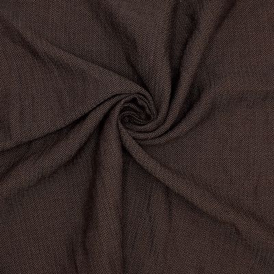 Apparel fabric with herringbone pattern - brown