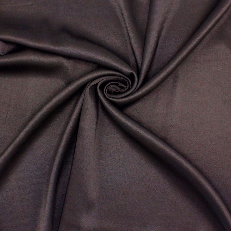 Tissu vestimentaire satiné brun