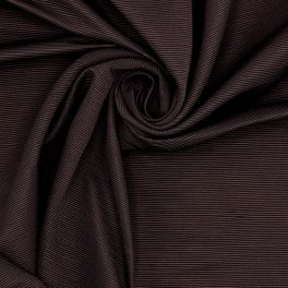 Apparel fabric with thin stripes - brown