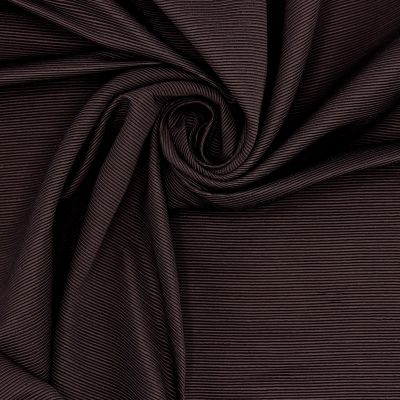 Kledingstof met fijne strepen - bruin