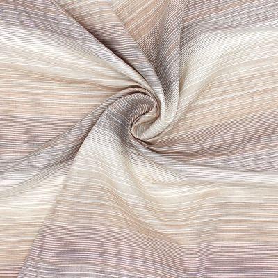 Kledingstof met fijne strepen - beige