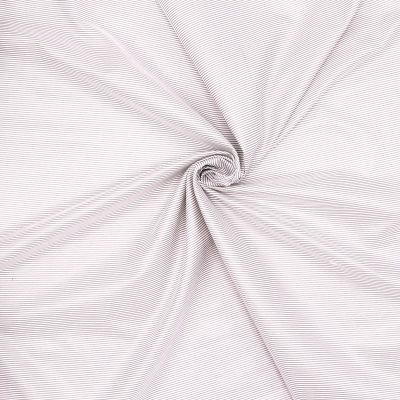 Tissu vestimentaire beige à fines rayures
