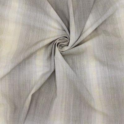 Tissu vestimentaire beige à rayures