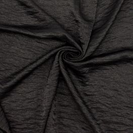 Kledingstof type crêpe - zwart
