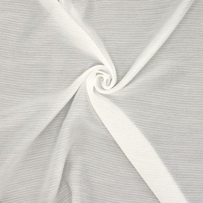 Tissu léger blanc cassé à rayures