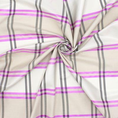 Tissu beige à carreaux