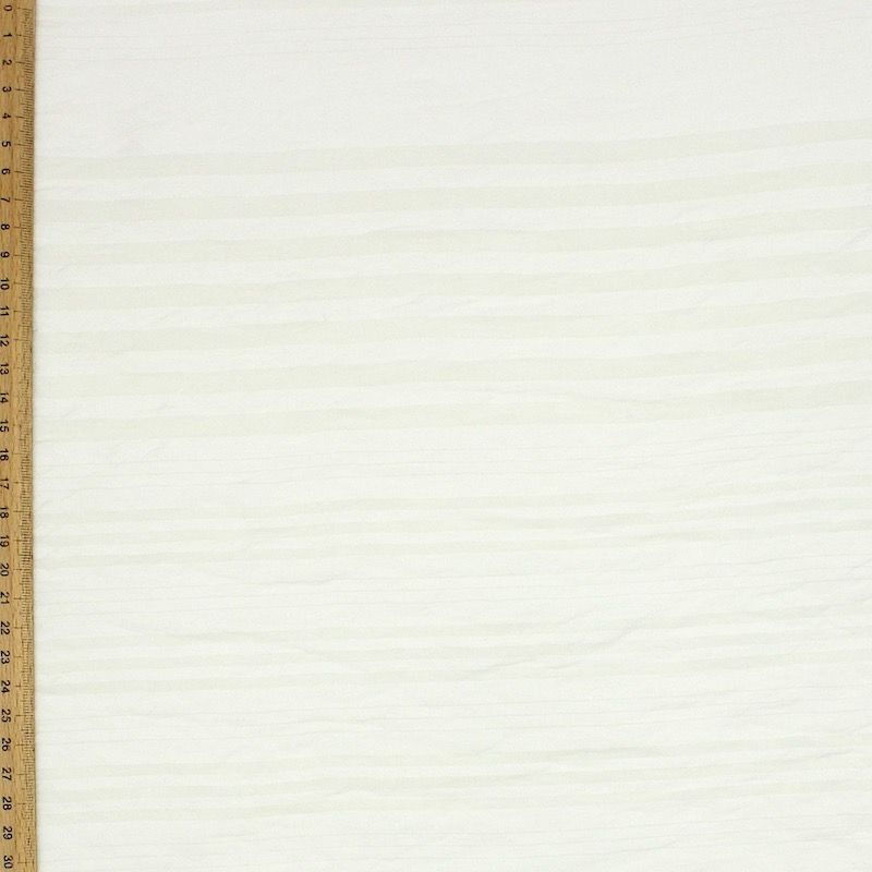 Striped veil fabric - beige