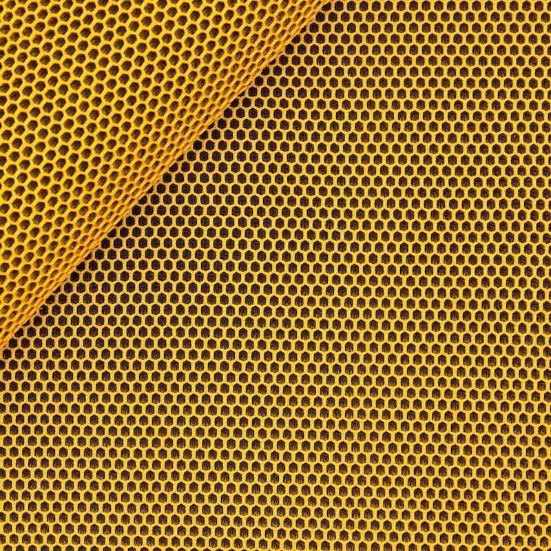 Upholstery fabric in polyester - mustard yellow
