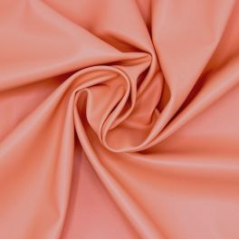 Extensible and waterproof faux leather - salmon