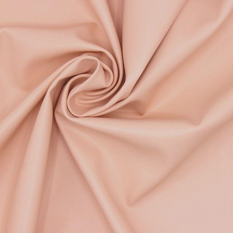 Simili cuir extensible et imperméable rose poudré