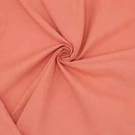 Cretonne fabric - plain marsala pink