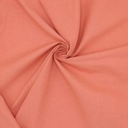 Tissu cretonne uni rose marsala