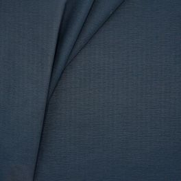 Water-repellent fabric with flamed effect - navy blue