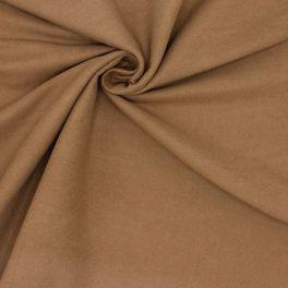 Tissu en coton gratté noisette