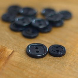 Round resin button - navy blue