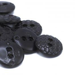 Vintage resin button - black