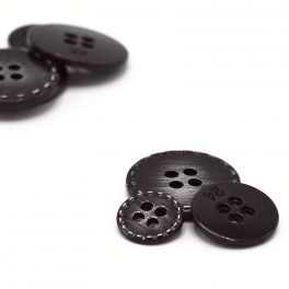Metal button - black and gold