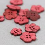 Fantasy resin button - pink and burgondy