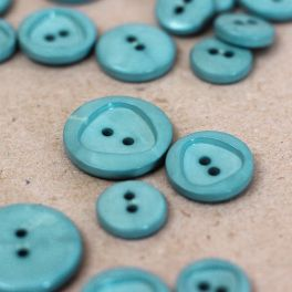 Resin button - teal