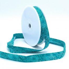 Biaisband met reptiel print - blauw