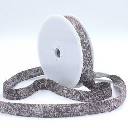 Biaisband met reptiel print - grijs