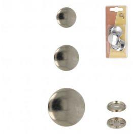 Bouton en métal à recouvrir