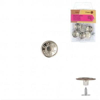 Denim buttons - silver