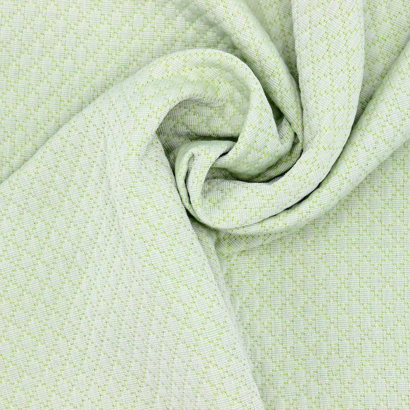 Jacquard fabric with rhombs - pistachio green