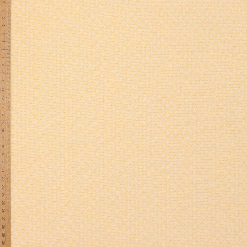 Jacquard fabric with rhombs - yellow