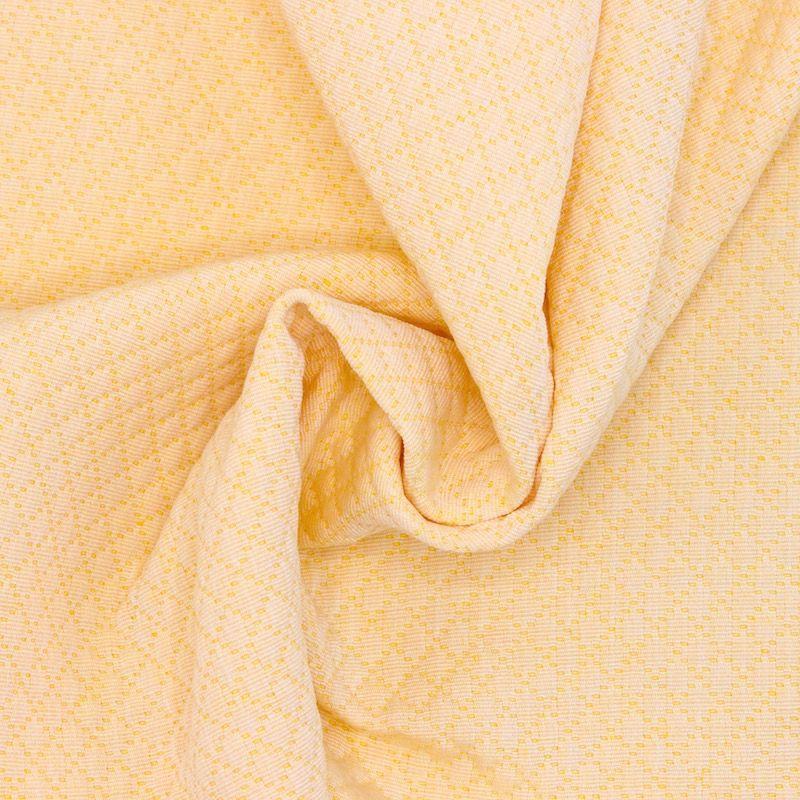 Tissu jacquard à losange jaune