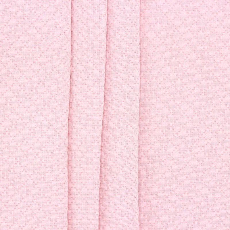 Jacquard fabric with rhombs - light pink