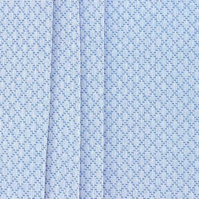Tissu jacquard à losange bleu