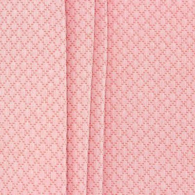 Jacquard fabric with rhombs - coral