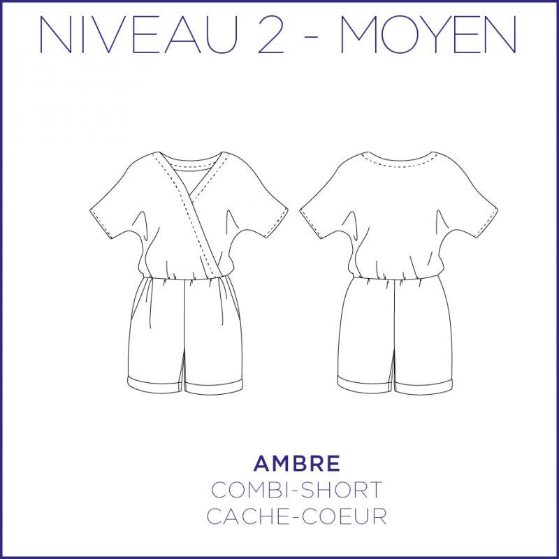 Patron femme combi-short Ambre