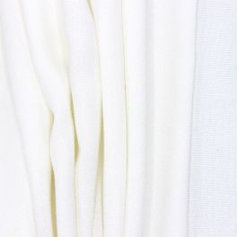 Polyester fabric with wide width - white