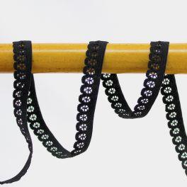 Elastique lingerie plat 13mm noir