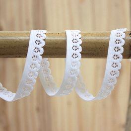 Elastique lingerie plat 13mm blanc