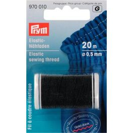 Elastic sewing thread 0,5mm - black