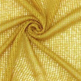 Mesh fabric - mosterd yellow