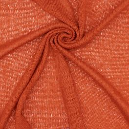 Mesh fabric - flamed rust