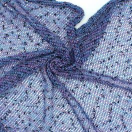Mesh fabric - blue and pink